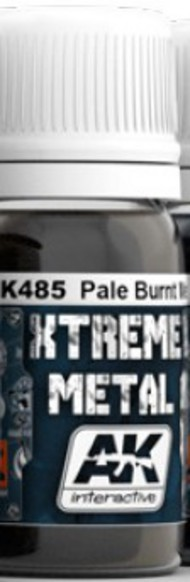 AK Interactive  AK Xtreme Xtreme Metal Pale Burnt Metal Metallic Paint 30ml Bottle AKI485