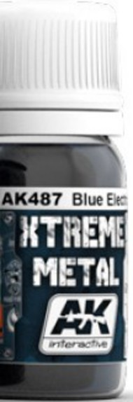 AK Interactive  AK Xtreme Xtreme Metal Blue Electric Metallic Paint 30ml Bottle AKI487