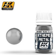 AK Interactive  AK Xtreme Xtreme Metal Matte Aluminum Metallic Paint 30ml Bottle AKI488