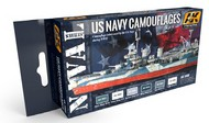 AK Interactive  AK Acrylic Naval Series: US Navy WWII Camouflages Acrylic Paint Set (6 Colors) 17ml Bottles AKI5000