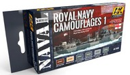 AK Interactive  AK Acrylic Naval Series: Royal Navy Camouflages 1 Acrylic Paint Set (6 Colors) 17ml Bottles AKI5030