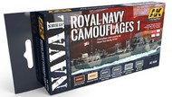 AK Interactive  AK Acrylic Naval Series: Royal Navy Camouflages 2 Acrylic Paint Set (6 Colors) 17ml Bottles AKI5040