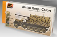 AK Interactive  AK Acrylic Afrika Korps Camouflage Acrylic Paint Set (6 Colors) 17ml Bottles AKI550