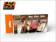 AK Interactive  AK Acrylic Rust Effects Acrylic Paint Set (6 Colors) 17ml Bottles AKI551