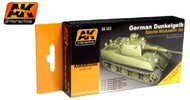 AK Interactive  AK Acrylic German Dark Yellow Modulation Acrylic Paint Set (6 Colors) 17ml Bottles AKI552