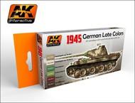 AK Interactive  AK Acrylic 1945 German Late War Acrylic Paint Set (6 Colors) 17ml Bottles AKI554