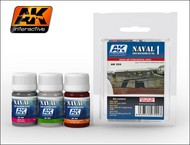 AK Interactive  AK Enamel Naval Ships Weathering Vol.1 Enamel Paint Set (302, 303, 304) AKI555