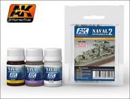 AK Interactive  AK Enamel Naval Ships Weathering Vol.2 Enamel Paint Set (301, 305, 306) AKI556