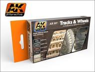AK Interactive  AK Acrylic Track & Wheels Acrylic Paint Set (6 Colors) 17ml Bottles AKI557