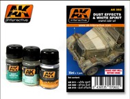 AK Interactive  AK Enamel Dust Effects & White Spirit Enamel Paint Set (11, 15, 22) AKI60