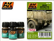 AK Interactive  AK Enamel Mud Effects Enamel Paint Set (16, 17, 23) AKI61