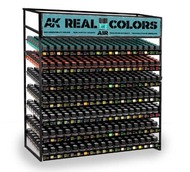 AK Interactive  AK Real Colors Real Colors: Aircraft Paint Deal w/Free Rack (3 each: 133 colors) AKI61001