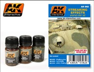 AK Interactive  AK Enamel Streaking Effects Enamel Paint Set (12, 13, 14) AKI62