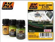 AK Interactive  AK Grime Slimy Grime & Fuel Stains Enamel Paint Set (25, 26, 27) AKI63