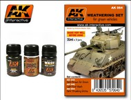 AK Interactive  AK Grime Green Vehicle Washes & Grime Enamel Paint Set (24, 45, 46) AKI64