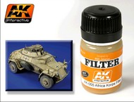 AK Interactive  AK Enamel Afrika Korps Filter Enamel Paint 35ml Bottle AKI65