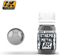 AK Interactive  AK Xtreme Xtreme Metal Stainless Steel Metallic Paint 30ml Bottle AKI670