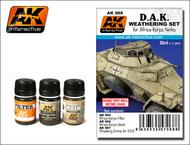 AK Interactive  AK Enamel DAK Africa Korps Tanks Enamel Paint Set (65, 66, 67) AKI68