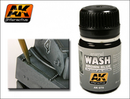AK Interactive  Washes Brown Blue Wash Enamel Paint 35ml Bottle AKI70