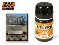 AK Interactive  AK Enamel Filter Blue for Panzer Grey Enamel Paint 35ml Bottle AKI71