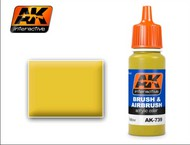 AK Interactive  AK Acrylic Yellow Acrylic Paint 17ml Bottle AKI739