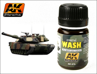 AK Interactive  Washes NATO Vehicle Wash Enamel Paint 35ml Bottle AKI75