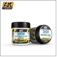AK Interactive  AK Diorama Series Diorama Series: Snow Microballoons Powder Texture Acrylic 100ml Bottle AKI8010