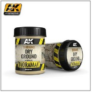 AK Interactive  AK Diorama Series Diorama Series: Terrains Dry Ground Texture Acrylic 250ml Bottle AKI8015