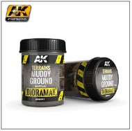 AK Interactive  AK Diorama Series Diorama Series: Terrains Muddy Ground Texture Acrylic 250ml Bottle AKI8017