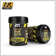 AK Interactive  AK Diorama Series Diorama Series: Terrains Dark Earth Texture Acrylic 250ml Bottle AKI8018