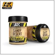 AK Interactive  AK Diorama Series Diorama Series: Terrains Sandy Desert Texture Acrylic 250ml Bottle AKI8022
