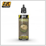AK Interactive  AK Diorama Series Diorama Series: Puddles Effects Liquid Crystalline Acrylic 60ml Bottle AKI8028