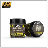 AK Interactive  AK Diorama Series Diorama Series: Dark & Dry Crackle Effects Acrylic 100ml Bottle AKI8032