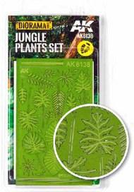 Diorama Series: Realistic Jungle Plants set #AKI8138