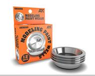 Aluminum Modeling Paint Wells (12) #AKI8206