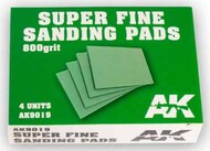 Super Fine Sanding Pads 800 Grit (4) #AKI9019