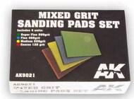 Mixed Grit Sanding Pads Set: 800, 400, 220, 120 Grit (4) #AKI9021
