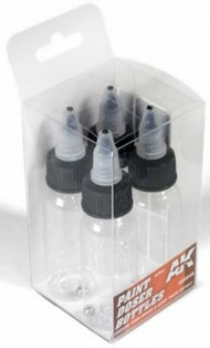 AK Interactive  AK Acrylic Paint Doser 30ml Bottles w/Shaker Ball (4) AKI9046