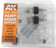 AK Interactive  AK Acrylic Paint Doser 60ml Bottles w/Shaker Ball (4) AKI9047
