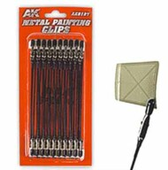 Metal Painting Alligator Clips w/Plastic Tips (20) #AKI9127
