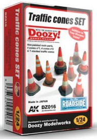 AK Interactive  1/24 Doozy Series: Traffic Cones Set (Resin) AKIDZ16