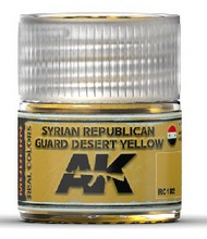 AK Interactive  AK Real Colors Real Colors: Syrian Republican Guard Desert Yellow Acrylic Lacquer Paint 10ml Bottle AKIRC102