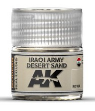 AK Interactive  AK Real Colors Real Colors: Iraqi Army Desert Sand Acrylic Lacquer Paint 10ml Bottle AKIRC104