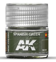 AK Interactive  AK Real Colors Real Colors: Spanish Green Acrylic Lacquer Paint 10ml Bottle AKIRC105
