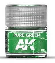 AK Interactive  AK Real Colors Real Colors: Pure Green Acrylic Lacquer Paint 10ml Bottle AKIRC12