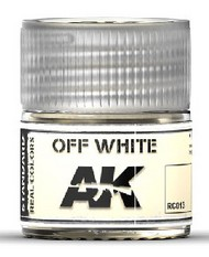 AK Interactive  AK Real Colors Real Colors: Off White Acrylic Lacquer Paint 10ml Bottle AKIRC13