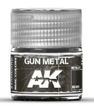 AK Interactive  AK Real Colors Real Colors: Gun Metal Acrylic Lacquer Paint 10ml Bottle AKIRC15