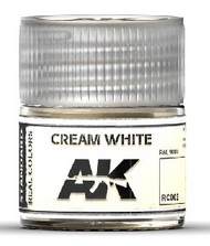 AK Interactive  AK Real Colors Real Colors: Cream White RAL 9001 Acrylic Lacquer Paint 10ml Bottle AKIRC2