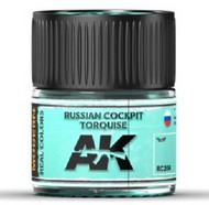 AK Interactive  AK Real Colors Real Colors: Russian Cockpit Turquoise Acrylic Lacquer Paint 10ml Bottle AKIRC206
