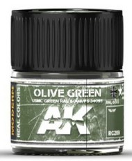AK Interactive  AK Real Colors Real Colors: Olive Green/USMC Green RAL6003/FS34095 Acrylic Lacquer Paint 10ml Bottle AKIRC209